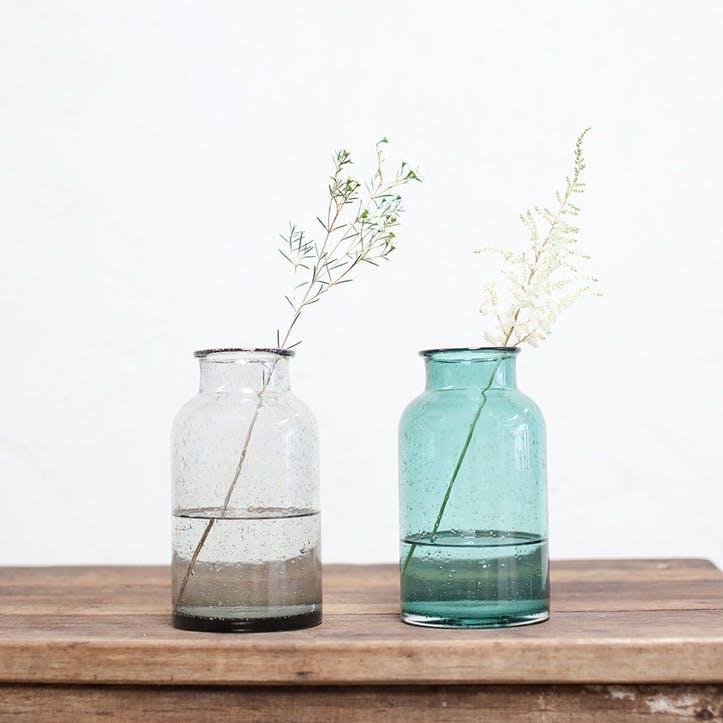 Toska Vase - Medium; Teal