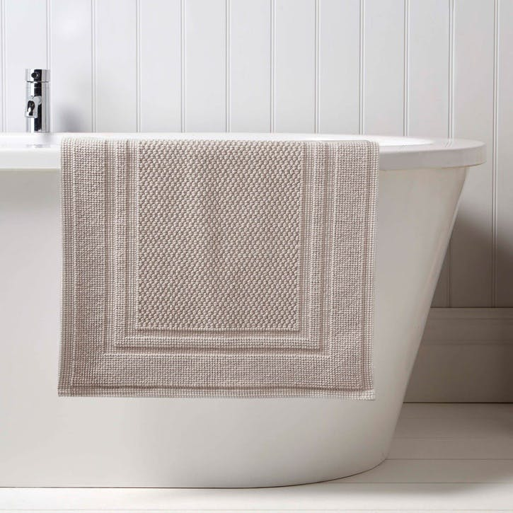 Fina Small Bath Mat, French Grey