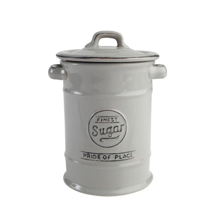 Pride of Place Sugar Jar, Cool Grey