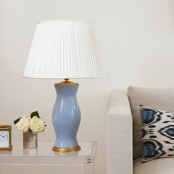 Plain Lamp Base, Medium, Powder Blue