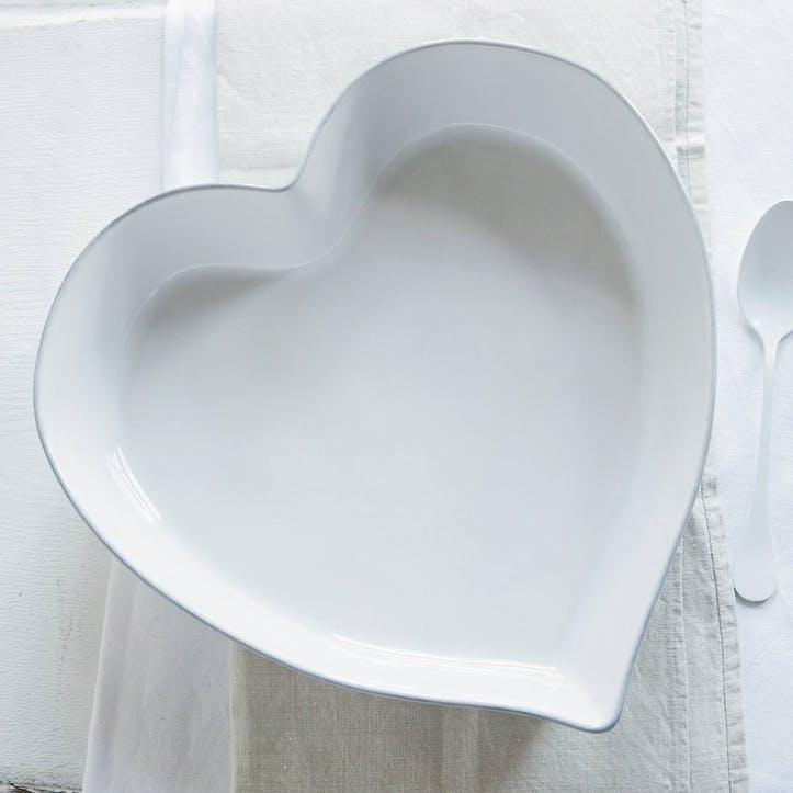 Porto Stoneware Heart Oven Dish, Large