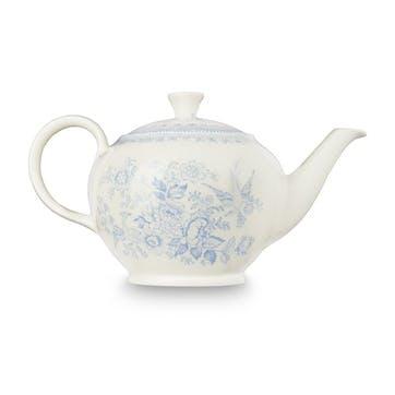 Asiatic Pheasants Teapot, 7 Cups, Blue