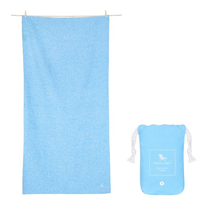 Active Yoga Towel; Lagoon Blue; Large