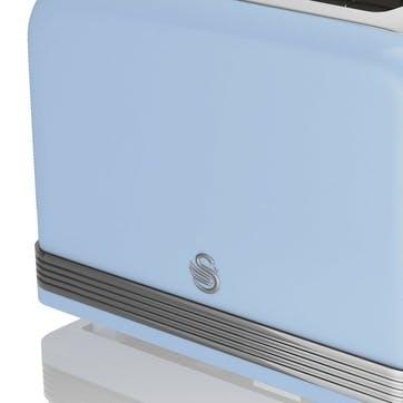 Retro 2-Slice Toaster, Blue