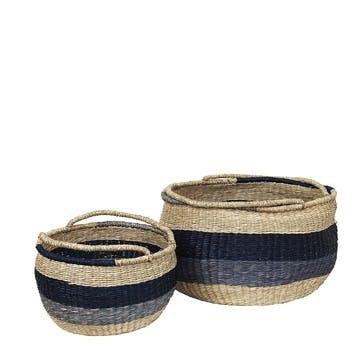 Adele Baskets, Set of 2, Sea Grass