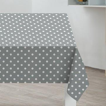 Polka Dot PVC Tablecloth, Grey