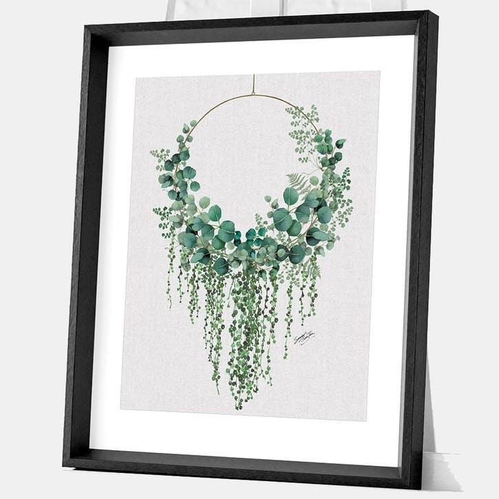 Summer Thornton Eucalyptus Hoop Framed Print, 55 x 45cm