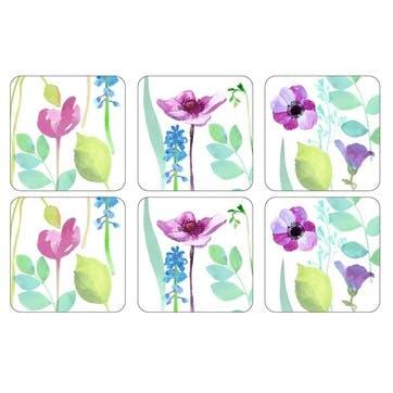 Water Garden Coasters, Set of 6
