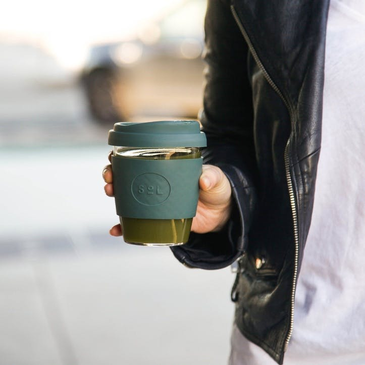 8oz Coffee Cup; Deep Sea Green