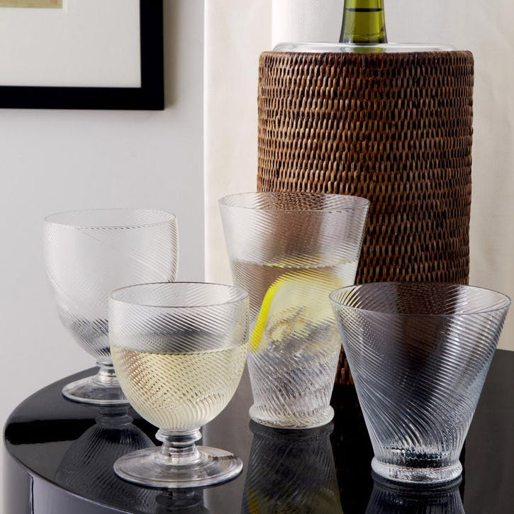 Twisted Wine Goblets, Set of 4