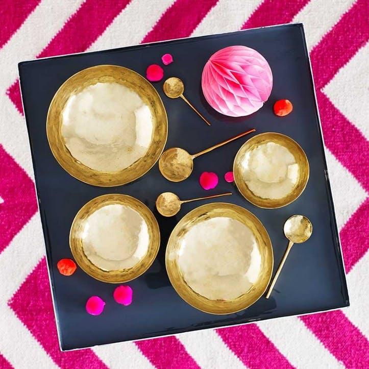 Handmade Brass Polished Bowls, Set of 4