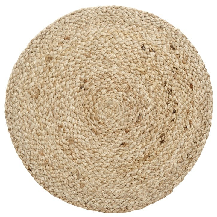 Round Jute Placemat, Natural