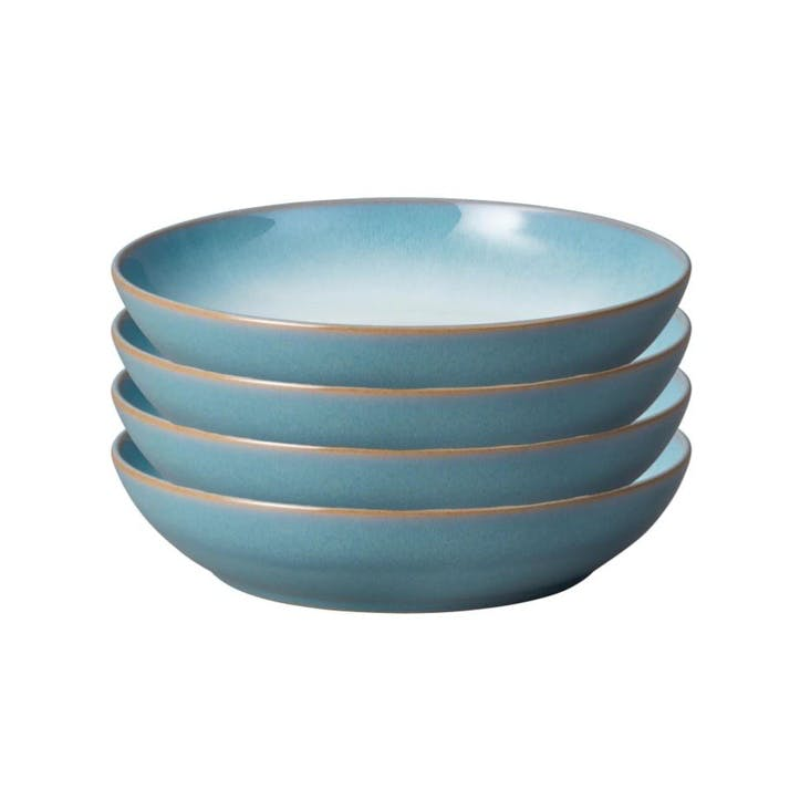 Azure Haze Pasta Bowl, Set of 4