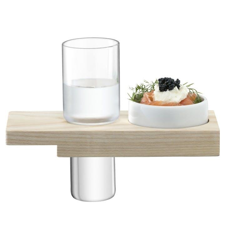 Vodka Solo Shot Glass Serving Set