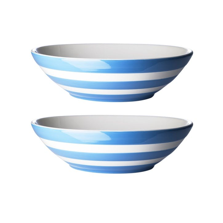 Set of 2 Pasta Bowls, 24cm, Blue