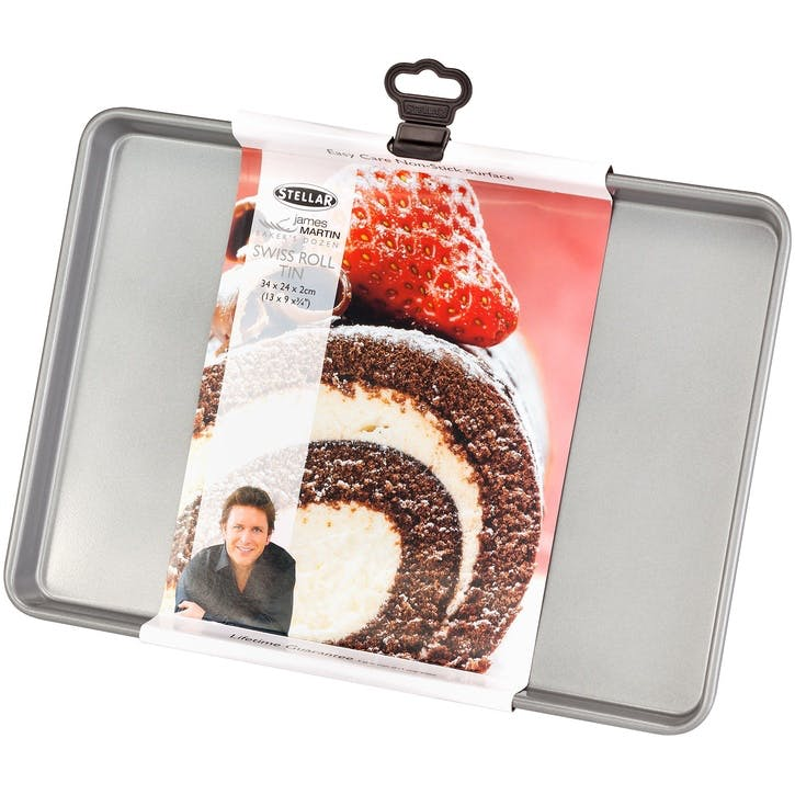 James Martin Bakers Dozen Swiss Roll Tin, 34 x 24 x 2cm