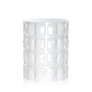Matelasse, Vase, White
