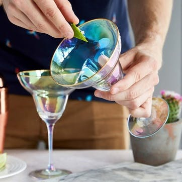 Rainbow Margarita Glasses, Set of 2