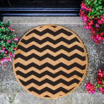 Chevron Circle Doormat