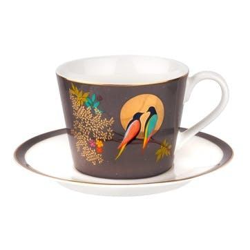 Chelsea Collection Tea Cup & Saucer; Dark Grey