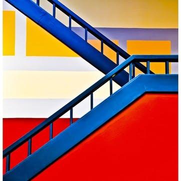Colourful Climb ChromaLuxe Metal Print, H51 x W51cm, Multi