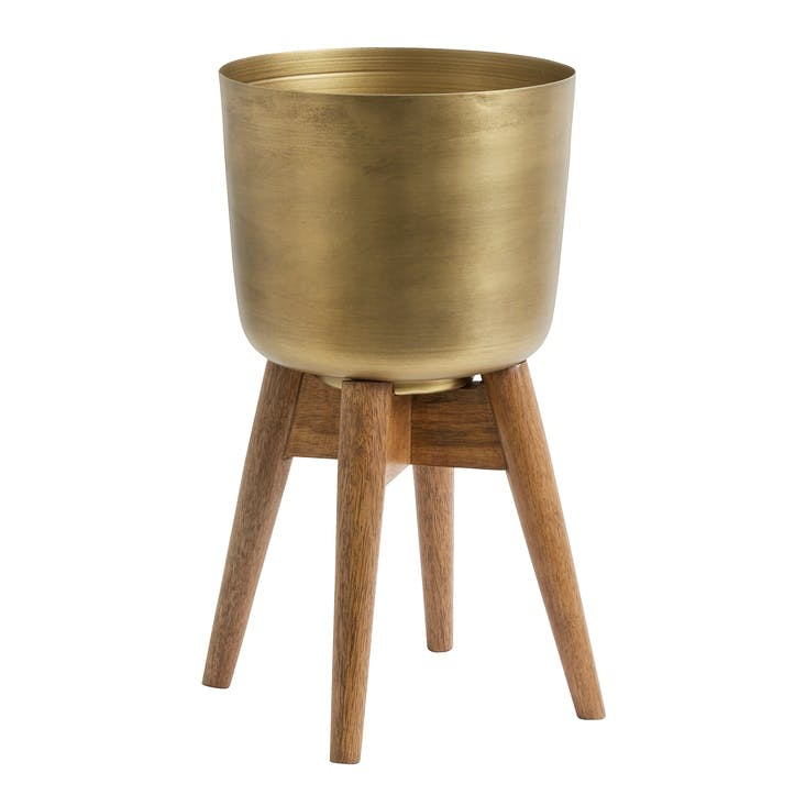 Brass Planter on Stand, Medium