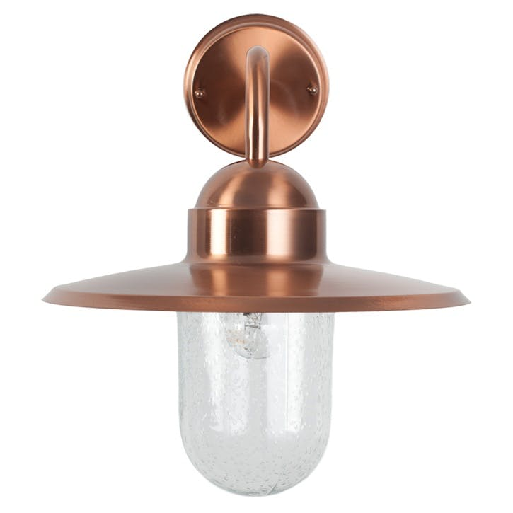 Fisherman Outdoor Wall Light; Copper