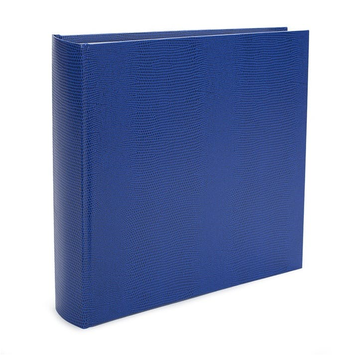 Jubilee Faux-Leather Square Photo Album, Ocean Blue
