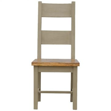 Cotswold Dining Chair, Grey/Natural