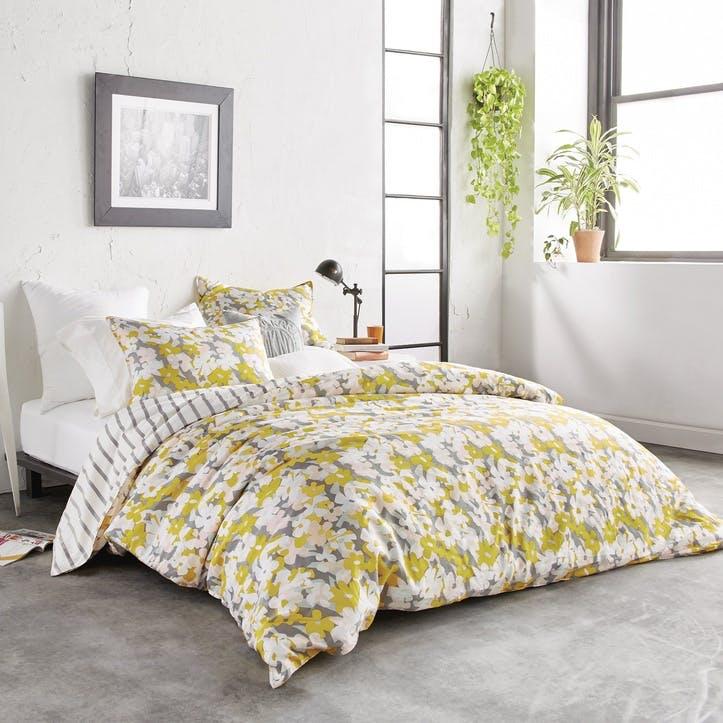 Cutout Floral Double Duvet Cover, Multi