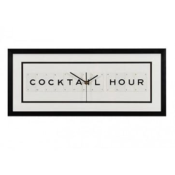 'Cocktail Hour' Clock