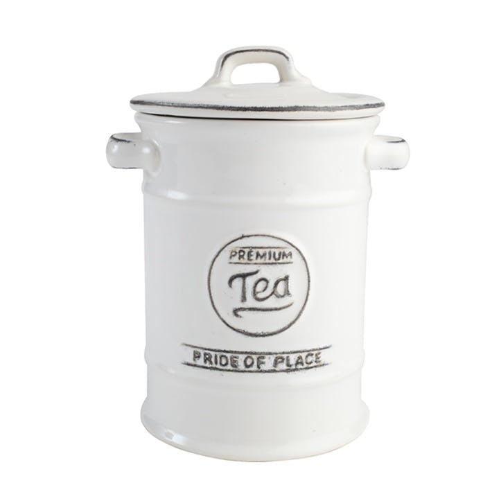 Pride of Place Tea Jar, White