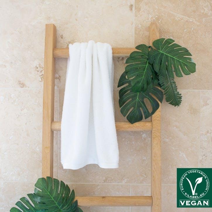 Vegan Life Hand Towel, White