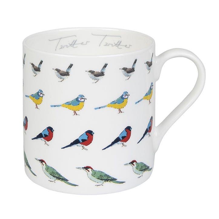 Garden Birds 'Twitter Twitter' Mug - Large