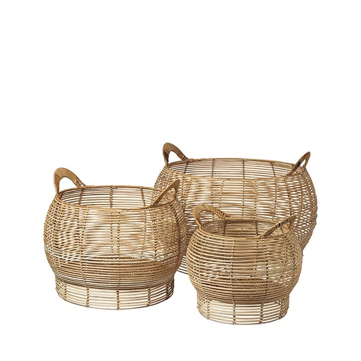 Safi Rattan Basket, H36 x Dia52cm