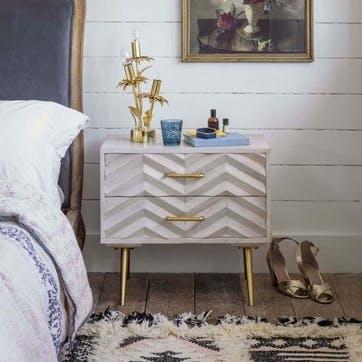 Ariella Chevrion Bedside Table