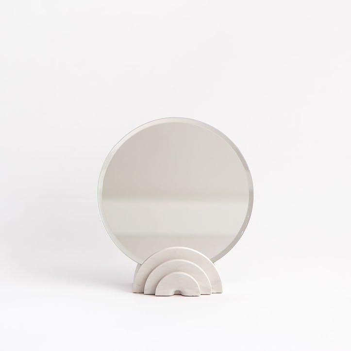 Scala Mirror, White Marble