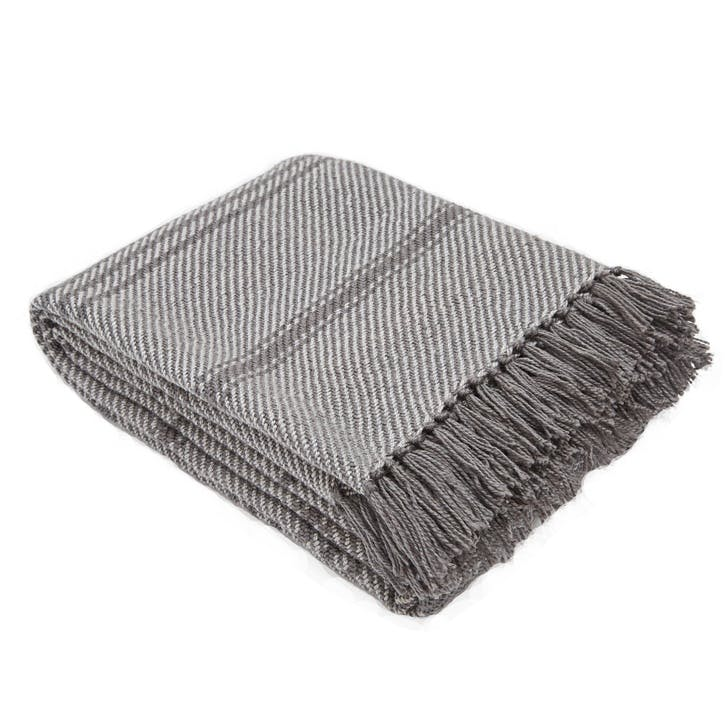 Oxford Stripe Blanket, 2.3 x 1.3m, Tabby