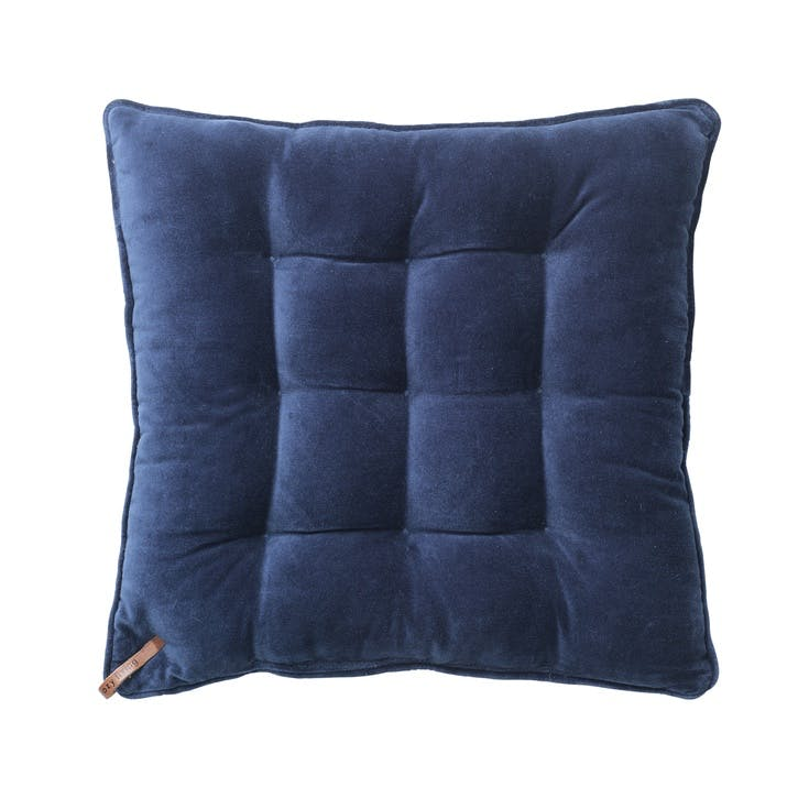 Velvet Seat Pad, Royal Blue