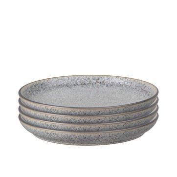 Studio Grey Coupe Medium Plate, Set of 4
