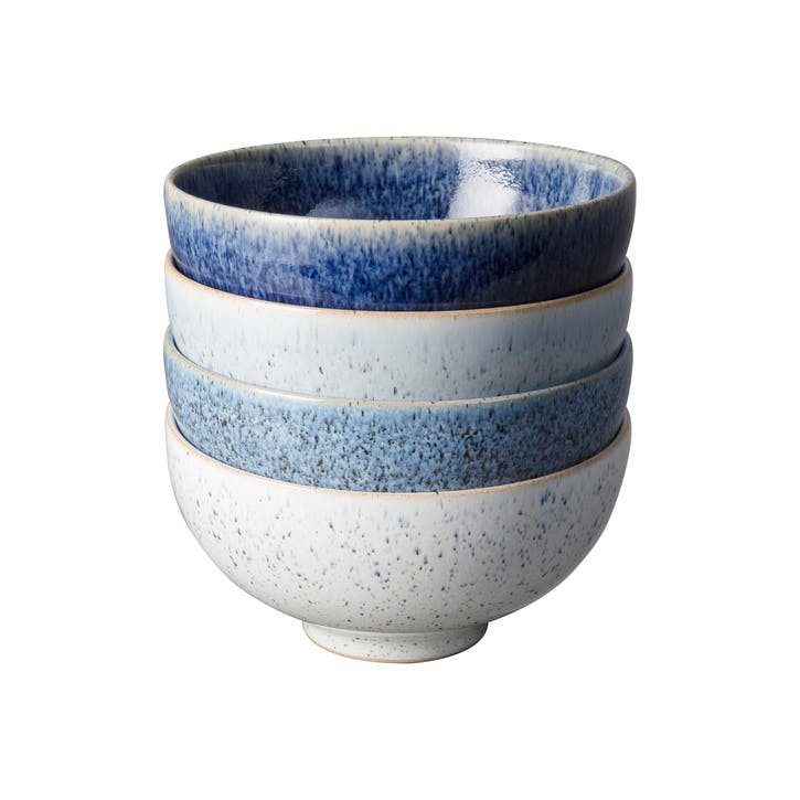 Studio Blue Set of 4 Rice Bowls