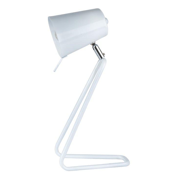 'Z' Table Lamp, White