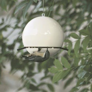 Birdball Peanut Feeder; White