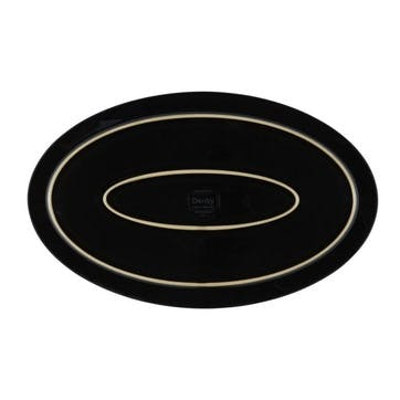 Halo Oval Platter, 40cm, Black/ Blue
