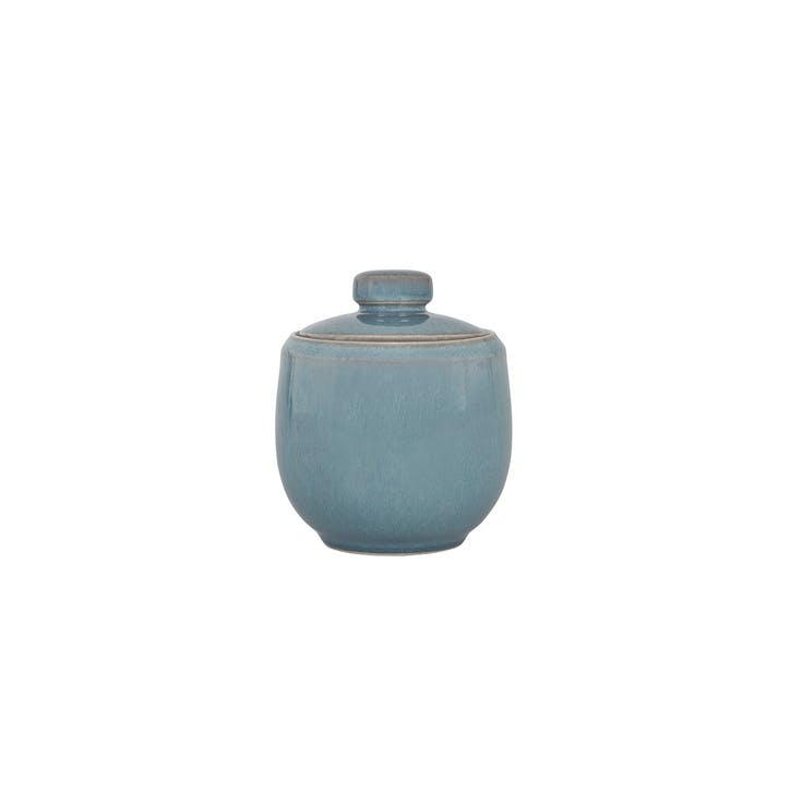 Azure Covered Sugar Bowl, 280g, Blue