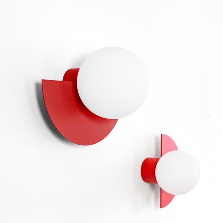 Large C, Plug in Wall Lamp, H37 x W30 x D29cm, Red