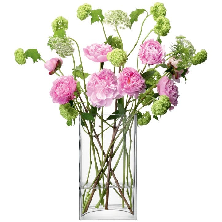 LSA Flower Rectangular Bunch Vase 32cm