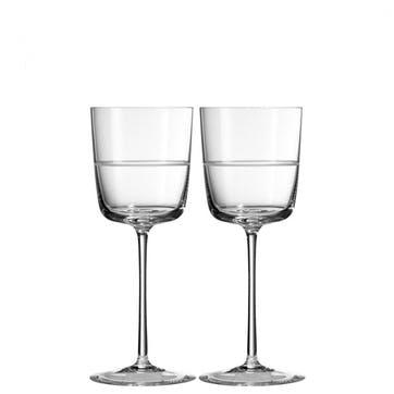 Bande Wine Glass, Set of 2