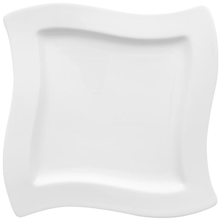 NewWave Salad Plate Square 34cm White