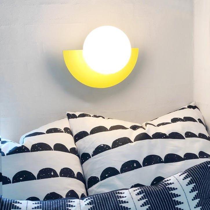 Large C, Plug in Wall Lamp, H37 x W30 x D29cm, Yellow